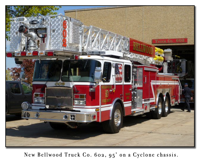 Bellwood Fire Department 95-foot tower ladder