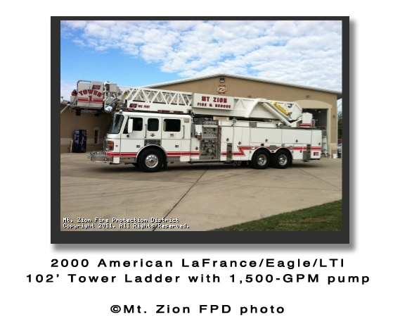 Mount Zion Fire Protection District tower ladder