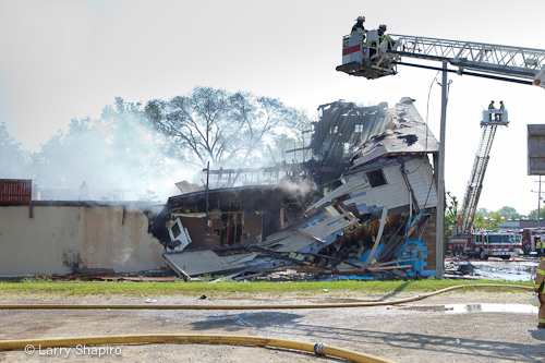 Beach Park commercial fire 5-20-12 building collapses
