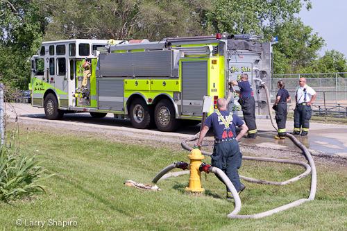 Beach Park commercial fire 5-20-12 Fox Lake Fire Department