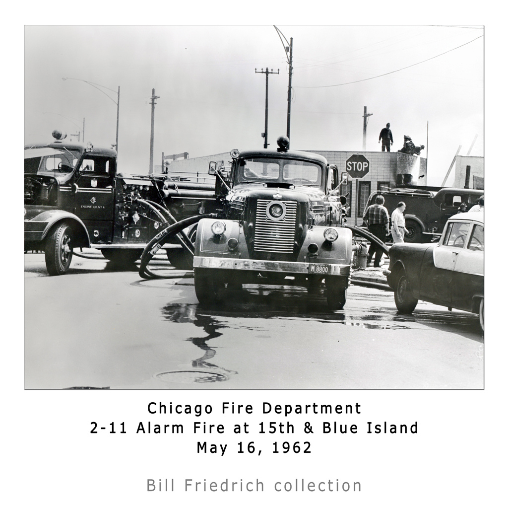 historic Chicago fire photo from 1962