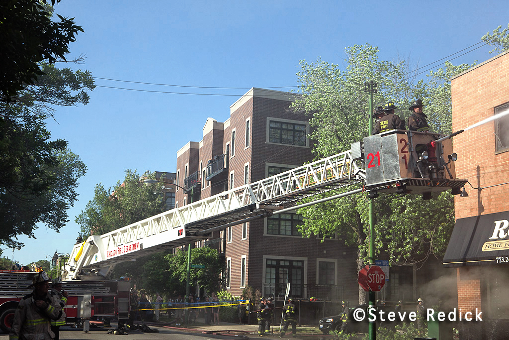 Chicago 3-11 Alarm fire 5-29-12 on Sheffield Avenue
