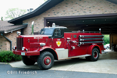 Belmont Fire Protection District Oshkosh Howe engine