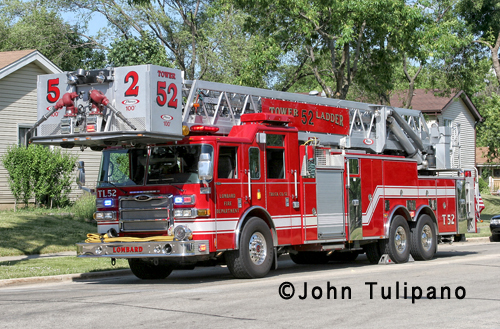 Lombard Fire Department Tower Ladder 52