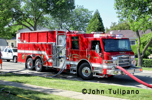 Townhouse fire in Bloomingdale 5-29-12