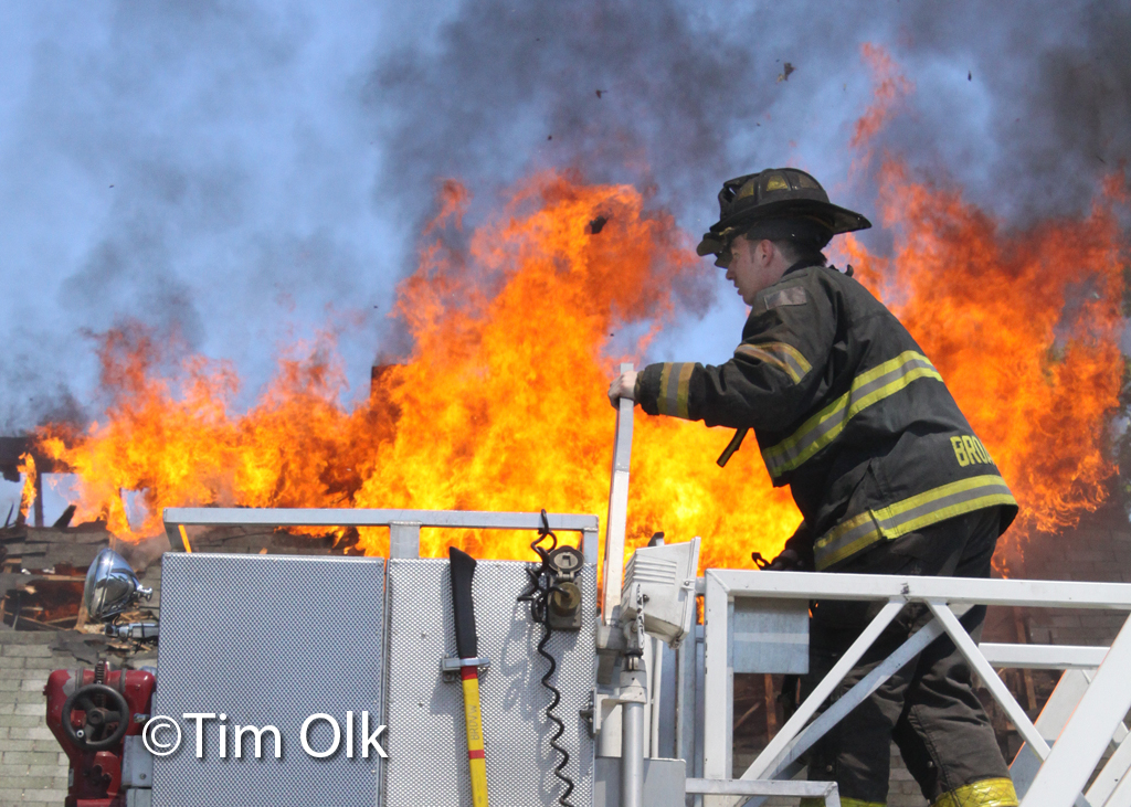 Broadview Fire Department live fire training