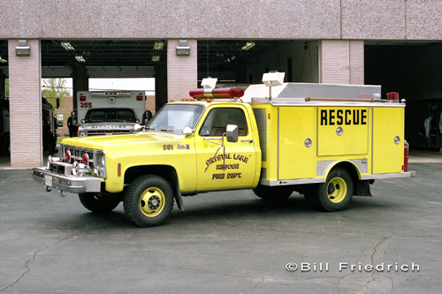 Crystal Lake Fire Rescue Department 1982 E-ONE rescue squad