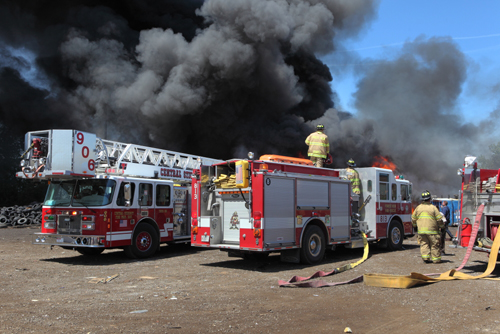 large storage yard fire in Stickney Central Stickney FPD 5-11-12