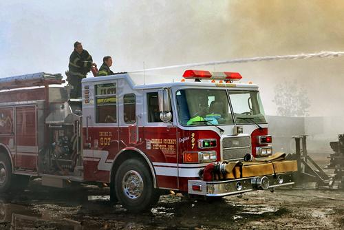 large storage yard fire in Stickney Central Stickney FPD 5-11-12