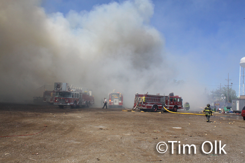 storage yard fire in Stickney Central Stickney FPD