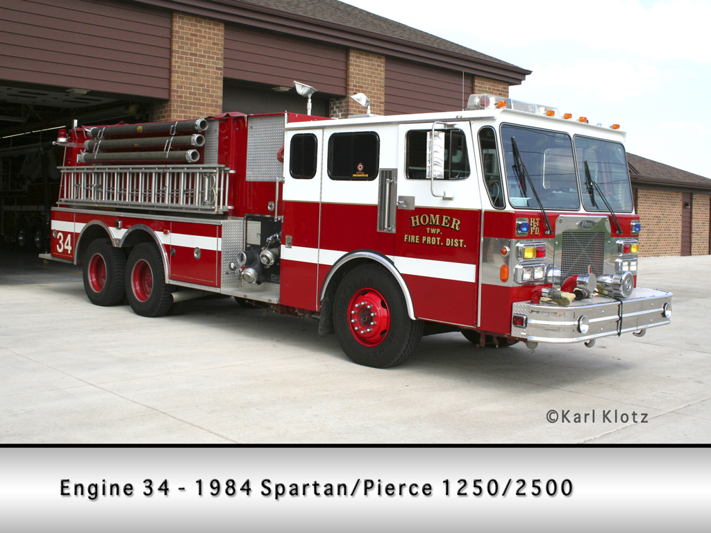 Homer Township FPD Engine 34 Spartan Pierce pumper tanker