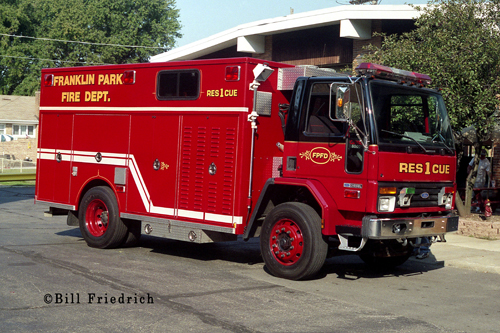 Franklin Park Fire Department Rescue 1
