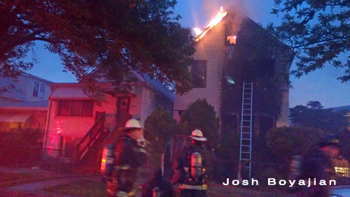 Chicago firefighters fight residential fire Battalion chief 38th Street