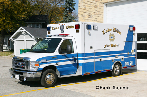 Lake Villa Fire District Osage ambulance