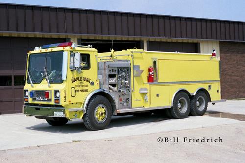 Maple Park Fire Protection District Mack MC Alexis tanker