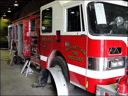 Manhatten Fire Protection District engine refurg by Alexis