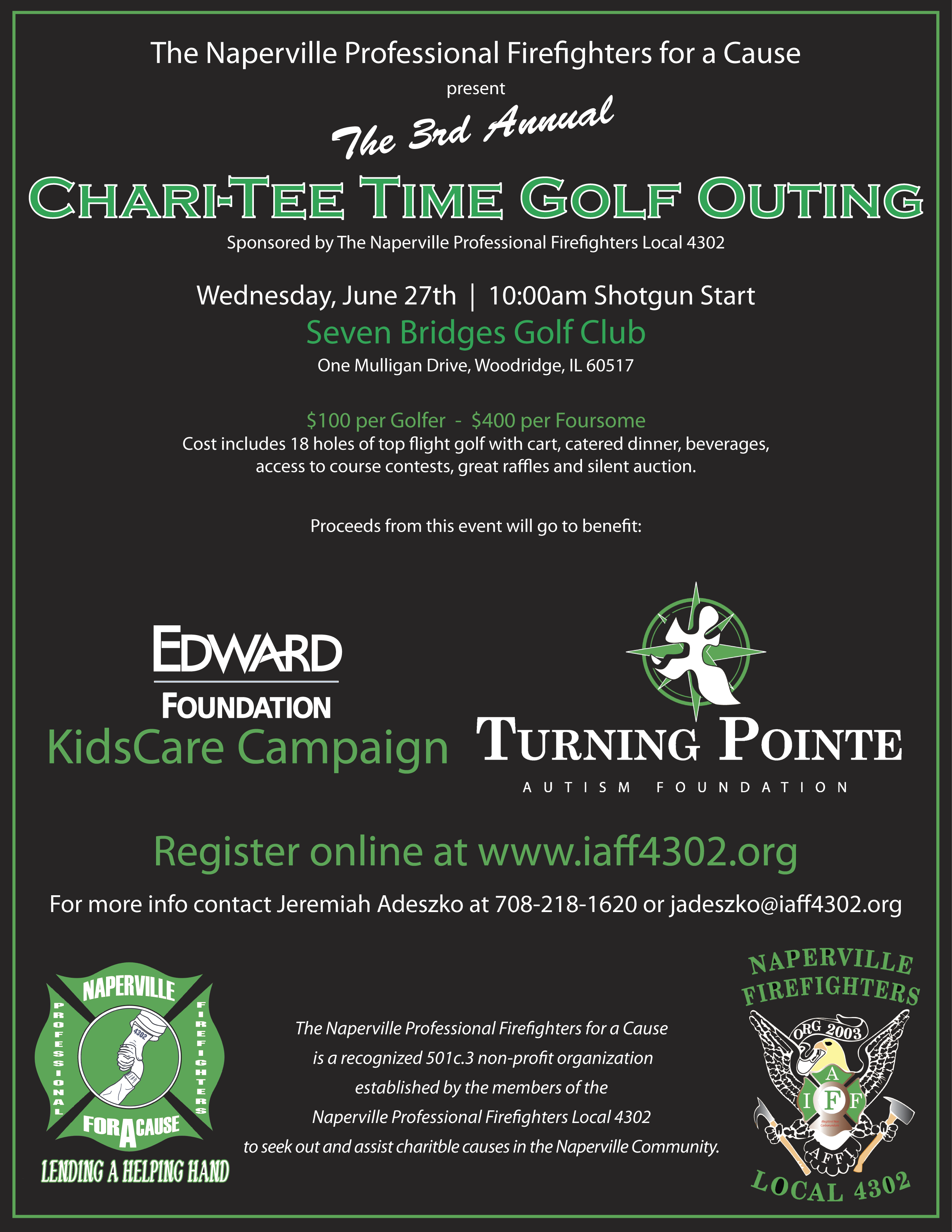 Naperville Firefighter golf outing