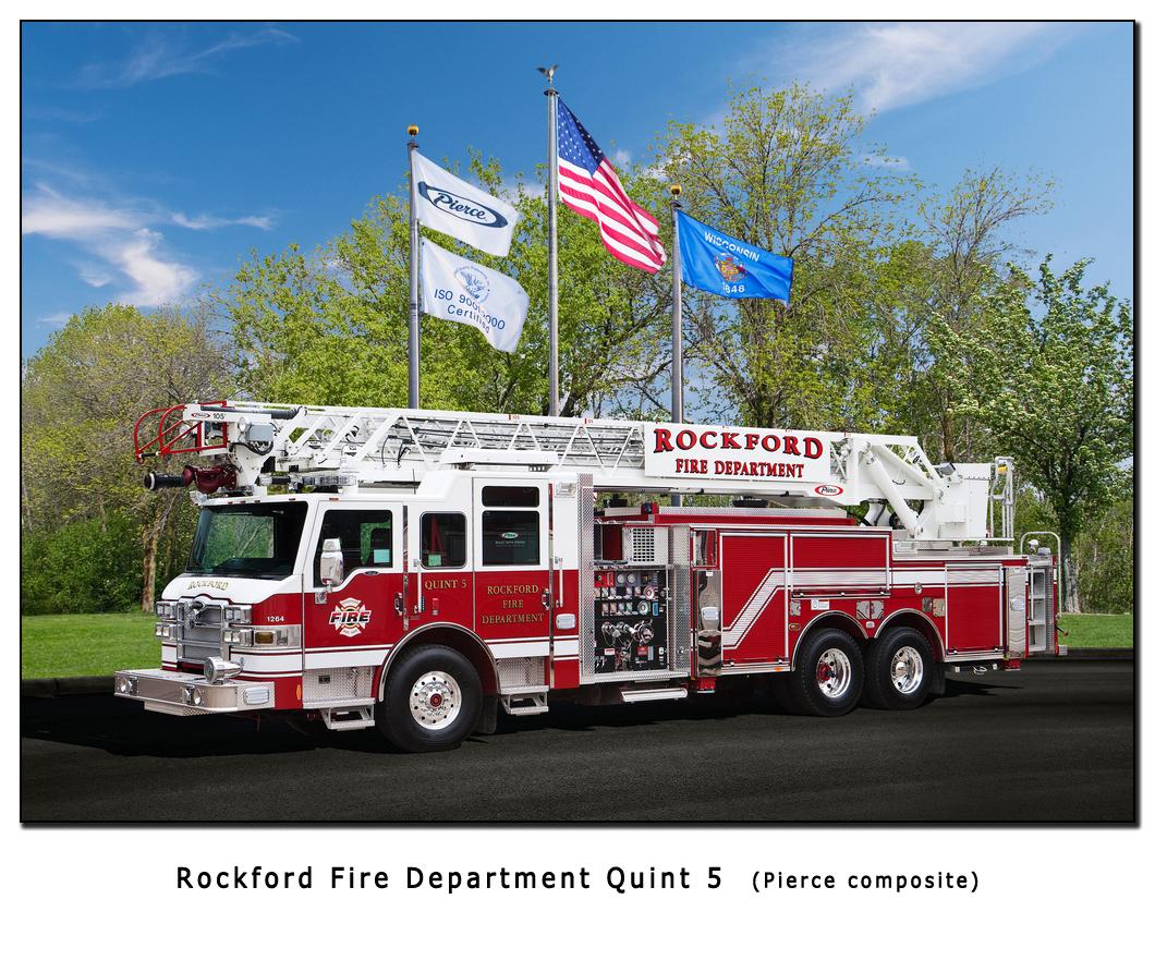 Rockford Fire Department Pierce 105' quint 5