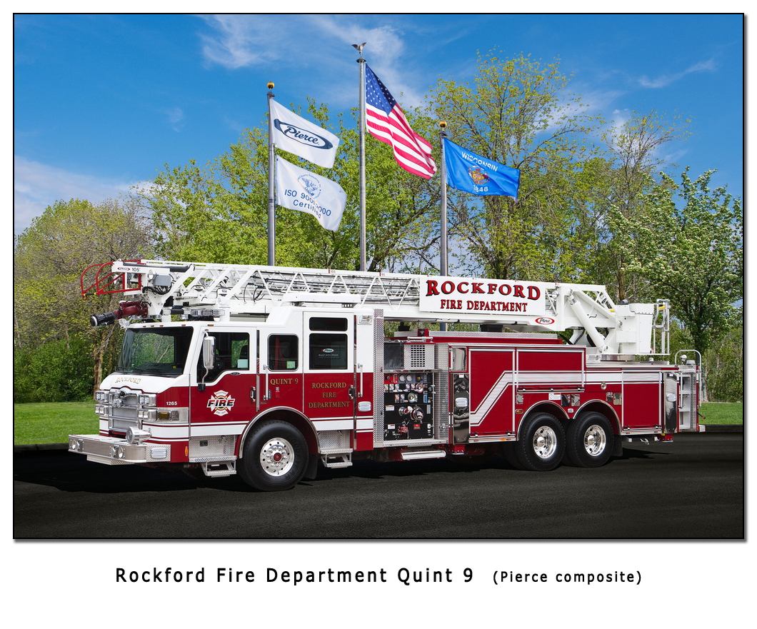 Rockford Fire Department Pierce Velocity quint