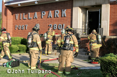 Fire at the Villa Park VFW Hall 5-29-12