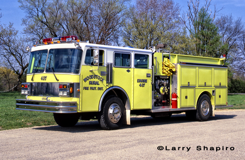 Woodstock Rural Fire Protection District Spartan Darley top-mount engine