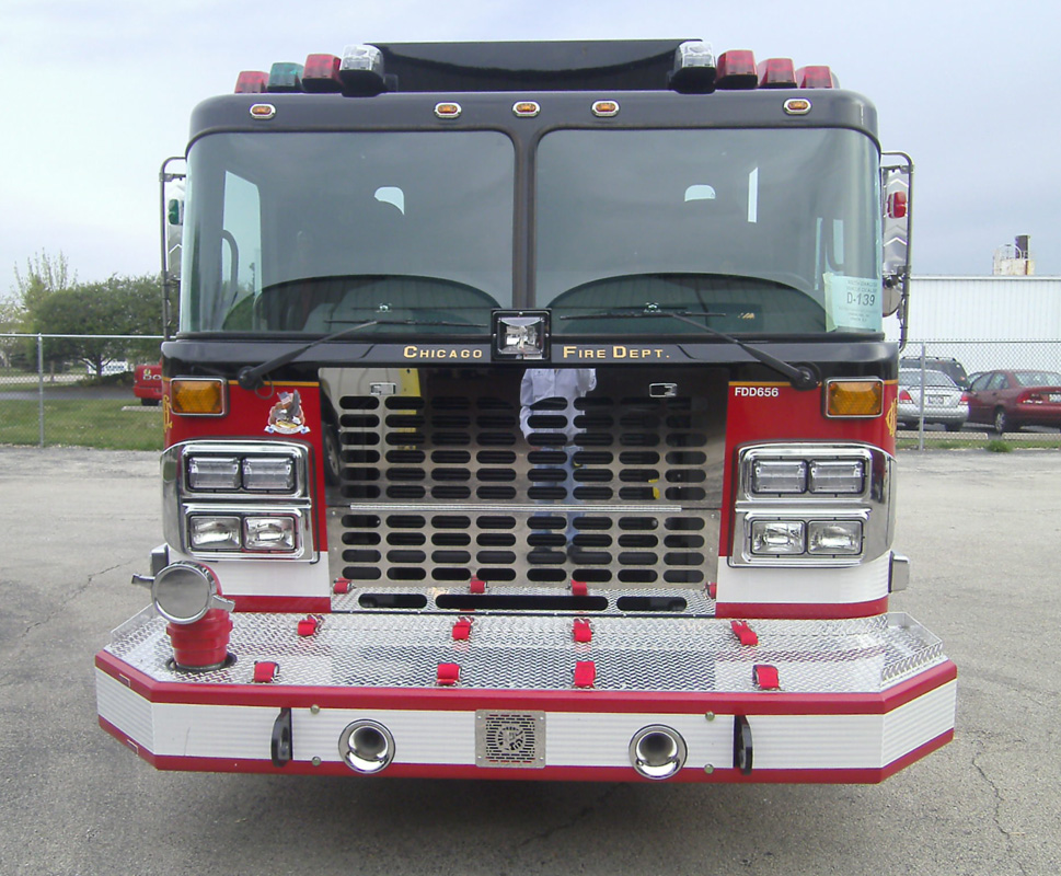 new Chicago Fire Department Training Academy engine