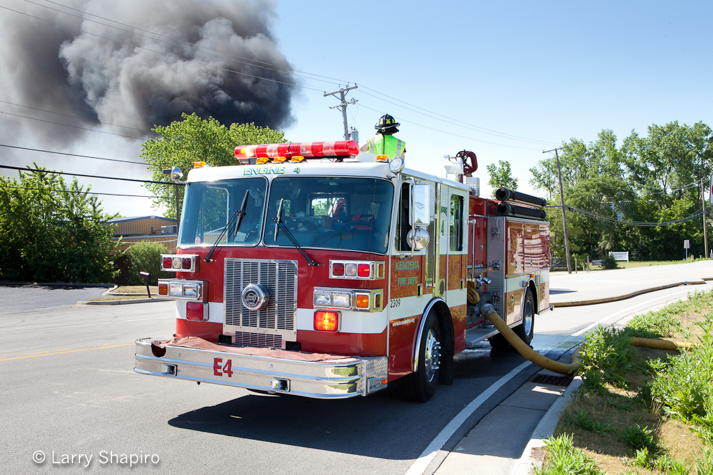 Zion Fire Department 3rd alarm fire 6-17-12 at 1817 Kenosha Road