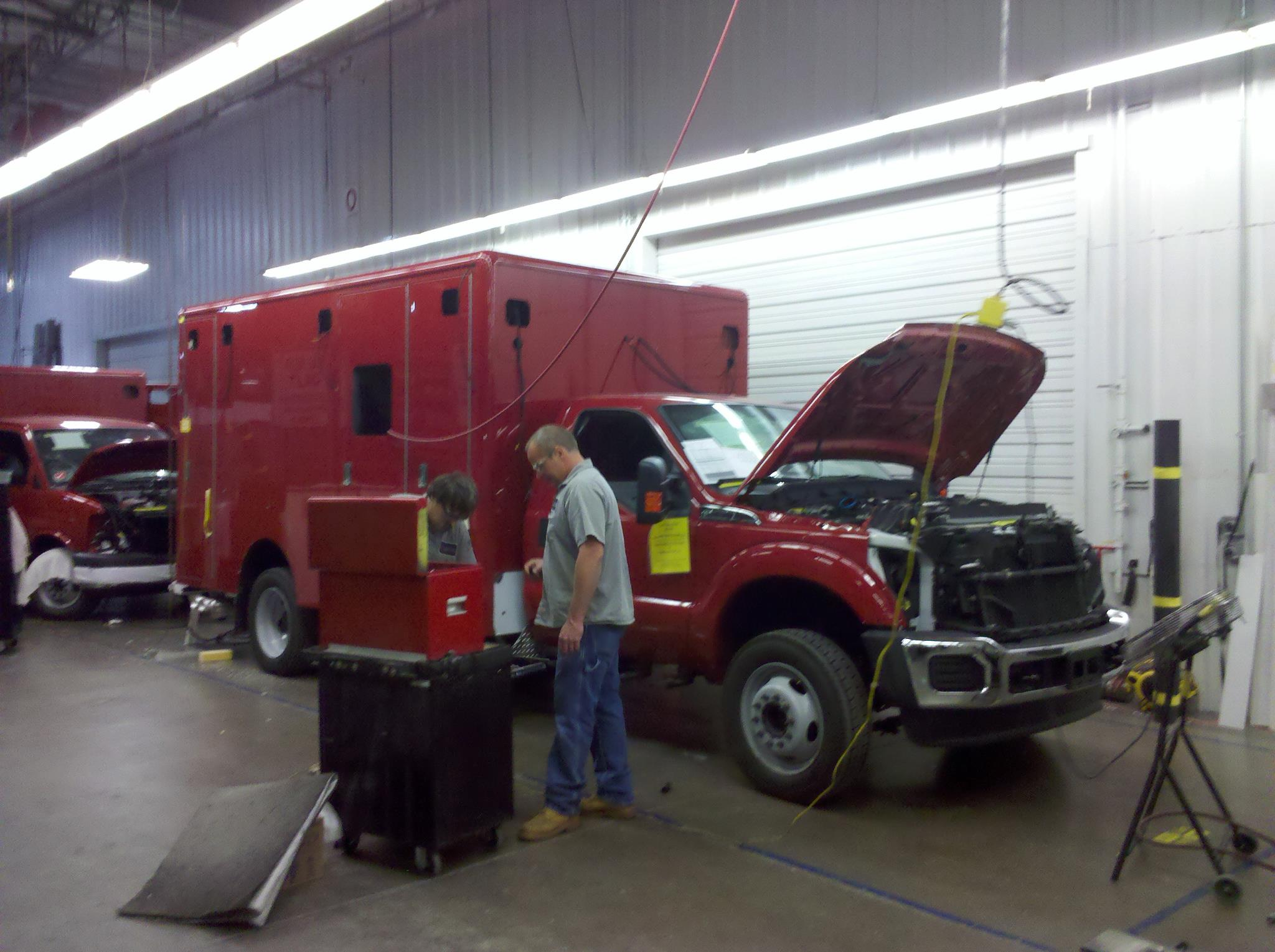 Highland Park Fire Department Horton ambulance in production