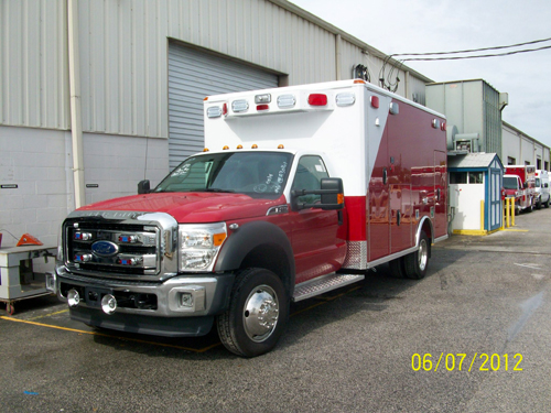 Bridgeview Fire Department new Wheeled Coach ambulance