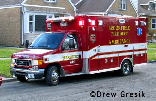 Brookfield Fire department Ambulance 414
