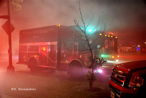 Chicago Fire Department 2-11 Alarm 6-10-12 5001 S. Western auto body shop fire