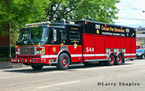 Chicago Fire Department Haz Mat Unit Hazardous Incident Team