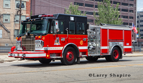 Chicago Fire Department Training Academy Crimson engine