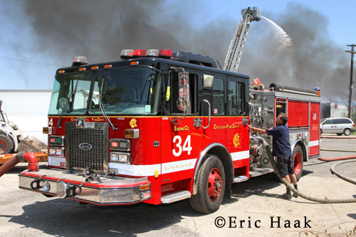 Chicago Fire Department Still & Box Alarm 47th & Knox 6-27-12 Engine 34