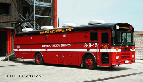 Chicago Fire Department MAB 8-8-12 Medical Ambulance Bus