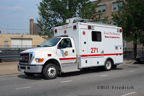 Fire muster in Chicago 2012 CFD Comm-Van 2-7-1