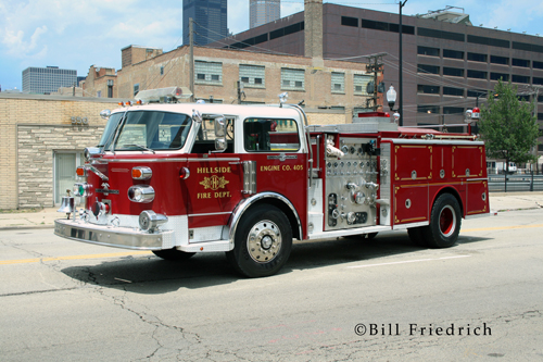 Fire muster in Chicago 2012 Hillside Fire Department American LaFrance Century engine