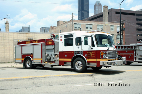 Fire muster in Chicago 2012 Hillside Fire Department American LaFrance Eagle engine