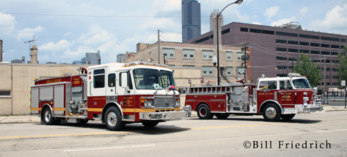 Fire muster in Chicago 2012 Hillside Fire Department American LaFrance