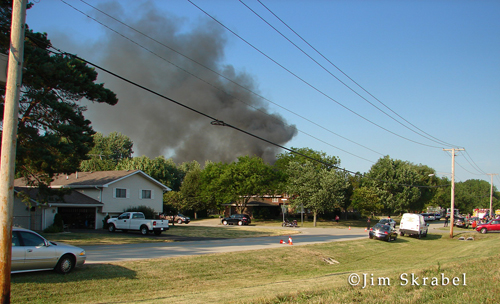 Plainfield Fire Department house fire on Rolf Road 6-27-12