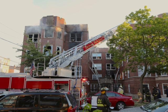 Chicago Fire Department 3-11 Alarm fire 714 E 82nd Street