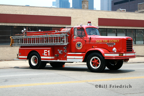 Fire muster in Chicago 2012 Sauk Fire District FWD engine