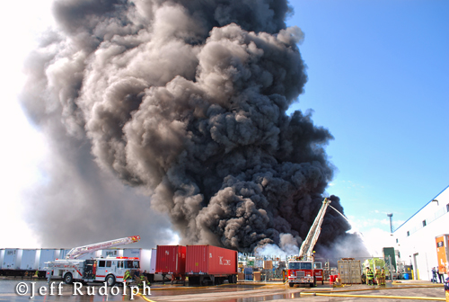Zion Fire Department 3rd Alarm large outdoor fire at 1817 Kenosha Road 6-17-12