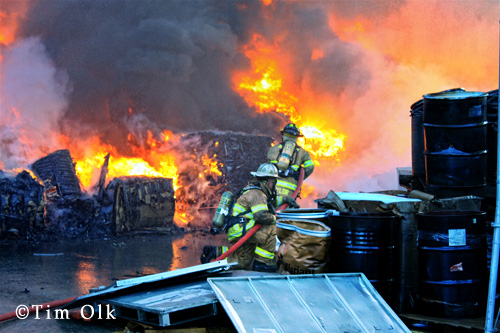 Zion Fire Department 3rd Alarm fire on Kenosha Road 6-17-12 Winthrop Harbor Fire Department