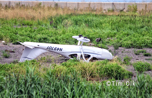 small plane crashes near Chicago lakefront