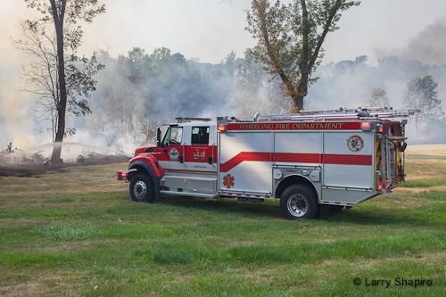 Wildland fire in Long Grove 7-4-12 from fireworks results in arrest Rosenbauer Timberwolf