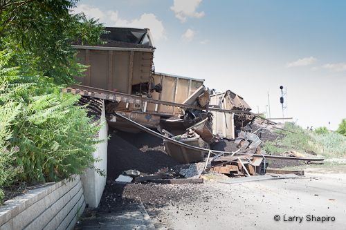 train derailment in Northbrook 7-4-12