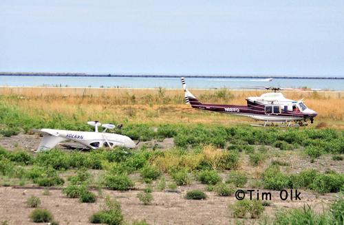 plane crashes near Lake Michigan