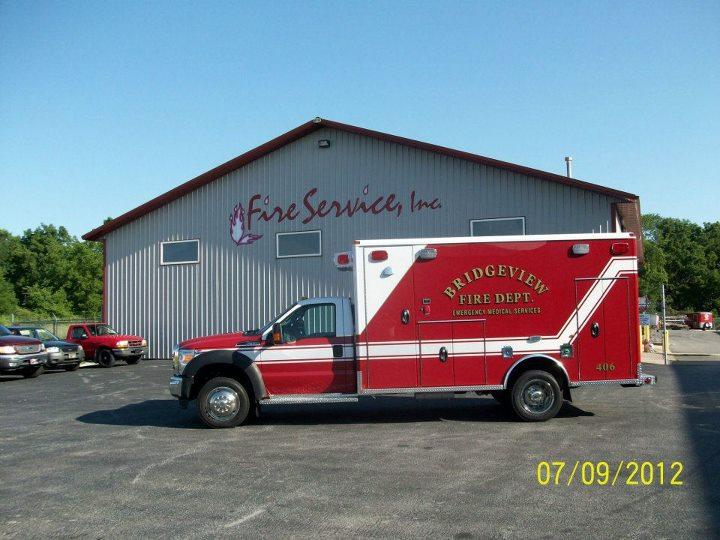 new ambulance for the Bridgeview Fire Department