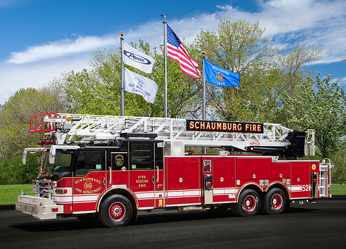 Schaumburg Fire Department new Pierce truck 52